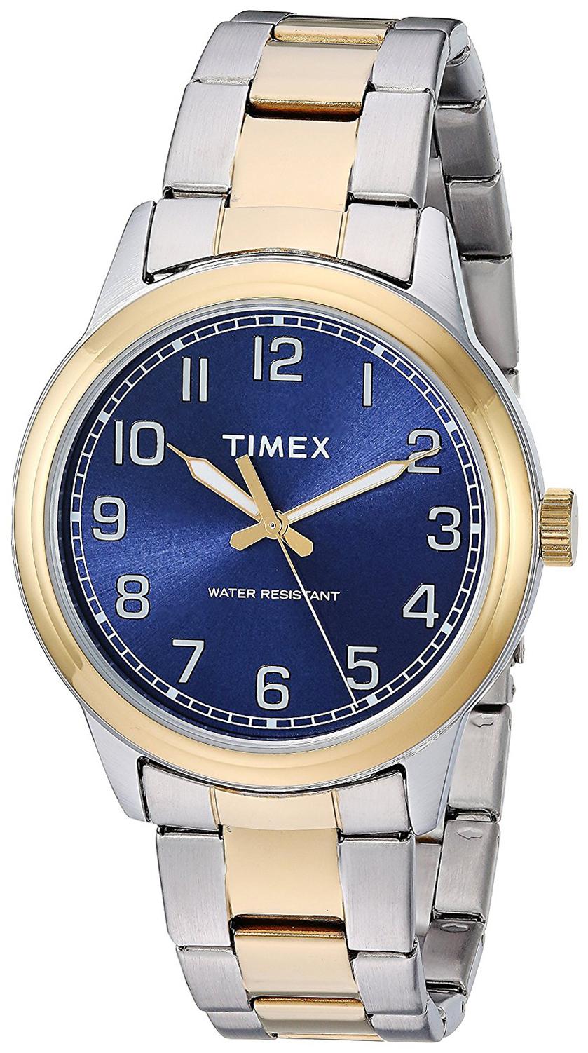 Timex 99999 Herrklocka TW2R36600 Blå/Gulguldtonat stål Ø40 mm - Timex