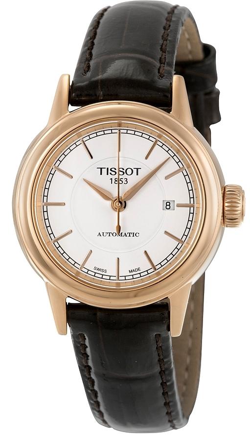 Tissot T-Classic Damklocka T085.207.36.011.00 Vit/Läder Ø29.5 mm - Tissot