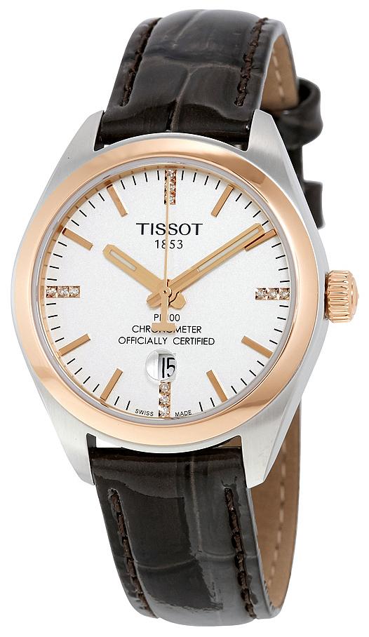 Tissot PR 100 Lady Cosc Damklocka T101.251.26.036.00 Silverfärgad/Läder - Tissot