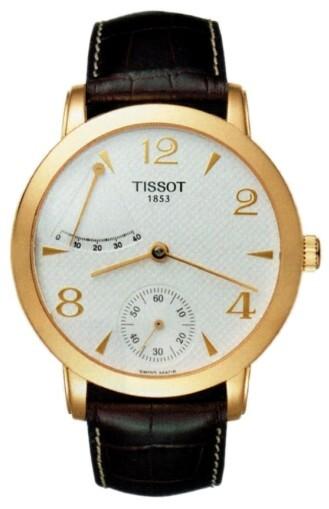 Tissot T-Gold Herrklocka T71.3.459.34 Silverfärgad/Läder Ø42.5 mm - Tissot