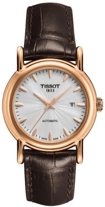 Tissot T-Gold Damklocka T907.007.76.031.00 Silverfärgad/Läder Ø29.5 mm - Tissot