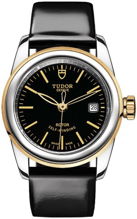 Tudor Glamour Date Damklocka 51003-0024 Svart/Läder Ø26 mm - Tudor