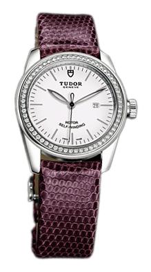 Tudor Glamour Date Damklocka 53020-WIDPRLZS Vit/Läder Ø31 mm - Tudor