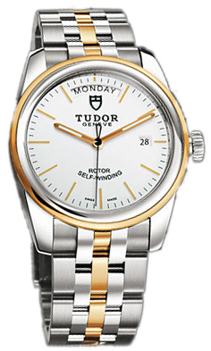 Tudor Glamour Day-Date Herrklocka 56003-68063-WIDGDSTL Vit/18 karat gult - Tudor
