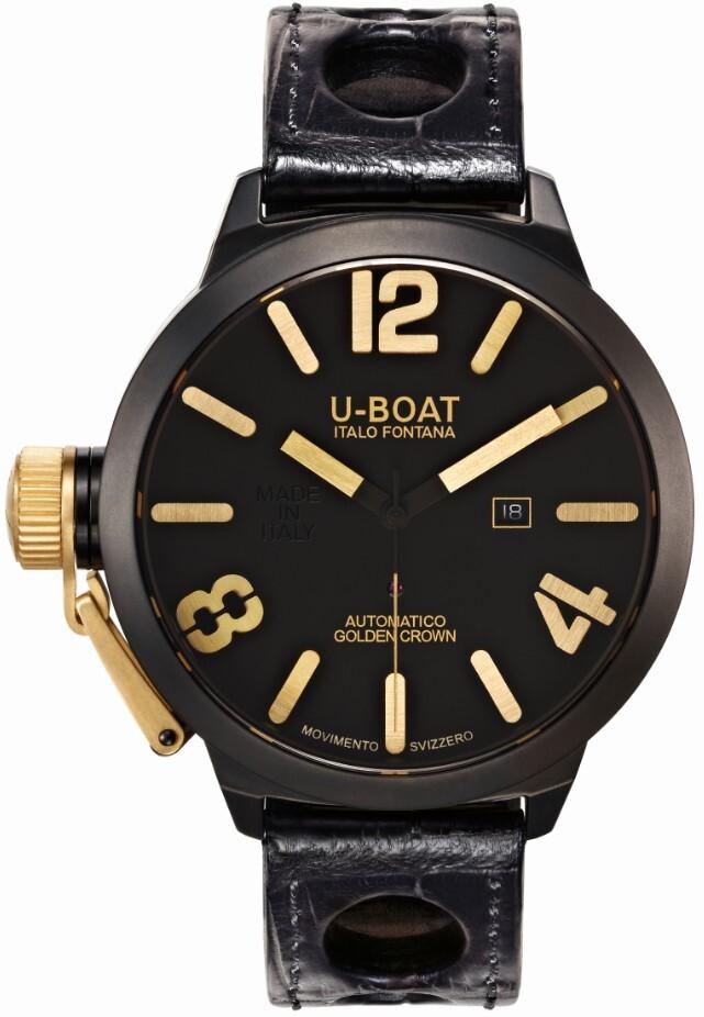 U-Boat Classico Herrklocka 1216 Svart/Läder Ø45 mm - U-Boat