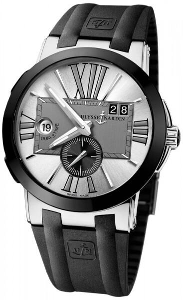 Ulysse Nardin Dual Time Herrklocka 243-00-3-421 Silverfärgad/Gummi Ø43 mm - Ulysse Nardin