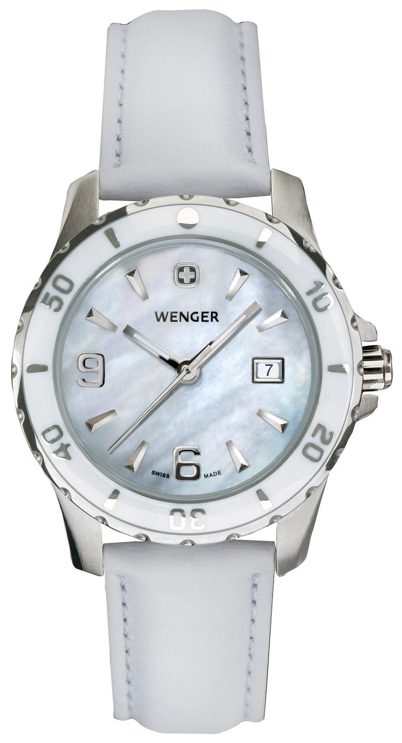 Wenger Elegance Damklocka 70382 Vit/Läder Ø32 mm - Wenger