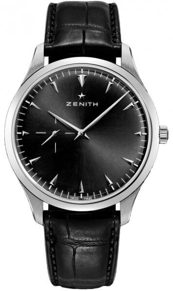 Zenith Heritage Ultra Thin Herrklocka 03.2010.681-21.C493 Svart/Läder - Zenith