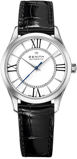Zenith Heritage Damklocka 03.2310.679-38.C714 Vit/Läder Ø33 mm - Zenith