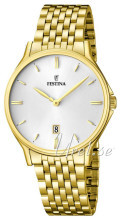 Festina Dress Vit/Gulguldtonat stål Ø39 mm