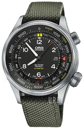 Oris Aviation Svart/Läder Ø47 mm 01 733 7705 4134-Set 5 23 14FC