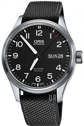 Oris Oris Aviation Svart/Textil Ø45 mm 01 752 7698 4164-07 5 22 15FC