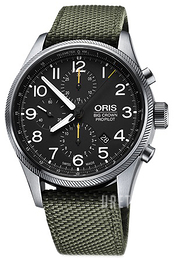 Oris Aviation Svart/Textil Ø43 mm 01 774 7699 4134-07 5 22 14FC
