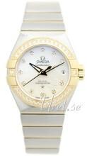 Omega Constellation Co-Axial 27mm Vit/18 karat gult guld Ø27 mm