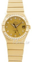 Omega Constellation Co-Axial 27mm Champagnefärgad/18 karat gult guld Ø27 mm