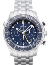 Omega Seamaster Diver 300m Co-Axial GMT Chronograph 44mm Blå/Stål Ø44 mm