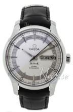Omega De Ville Hour Vision Co-Axial Annual Calendar 41mm Silverfärgad/Läder Ø41 mm