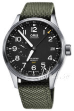 Oris Aviation Svart/Textil Ø45 mm